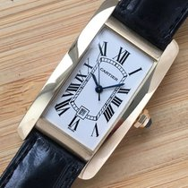 Cartier Tank Américaine Yellow gold White