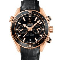Omega Seamaster Planet Ocean Chronograph Oro rosa 45.5mm Negro Sin cifras