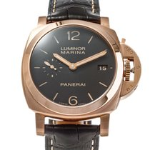 Panerai Luminor Marina 1950 3 Days Automatic Aur roz 42mm Maron