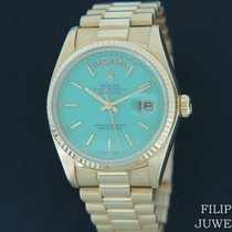 Rolex Day-Date 36 Or jaune 36mm Vert