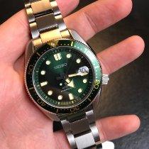 Seiko Prospex Steel 44mm Green No numerals