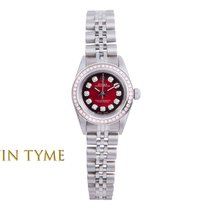 Rolex Oyster Perpetual Acier 24mm Rouge