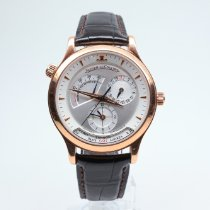 Jaeger-LeCoultre Rose gold Automatic Silver No numerals 38mm pre-owned Master Geographic