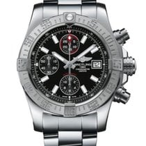 Breitling Avenger II Steel 43mm Black No numerals