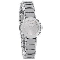 Rado La Coupole Ladies Platinum Ceramic Swiss Quartz Watch...