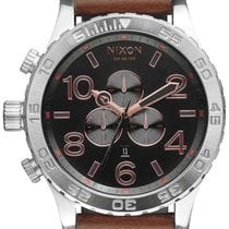 Nixon A124-2064 51-30 Chrono Leather Gray Rose Gold 51mm 30ATM