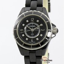 香奈儿 J12 Black Ceramic Diamond Dial Box Papers 29mm H2569