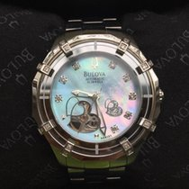 Bulova Mechanical Ladies' Double Heart Motif Round Watch 96R151