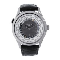Patek Philippe World Time White gold 38.5mm White Arabic numerals