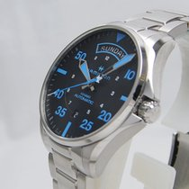 Hamilton Khaki Pilot Day Date H64625131 HAMILTON KHAKI Zermatt Acciaio Nero Blu 42mm new