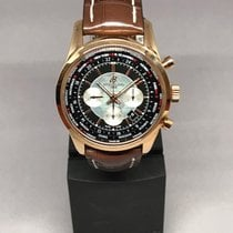 Breitling Transocean Chronograph Unitime Rose gold 46mm Black