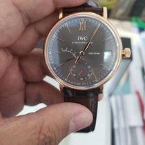 IWC Red gold Manual winding Grey Roman numerals 45mm new Portofino Hand-Wound