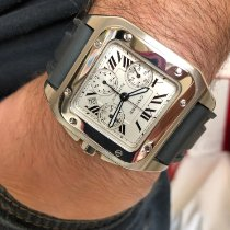 Cartier 2740 Steel 2017 Santos 100 41mm pre-owned United States of America, Texas, Wimberley