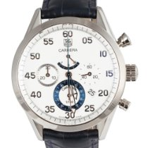 TAG Heuer Or blanc Remontage automatique Blanc Arabes 42mm occasion Carrera