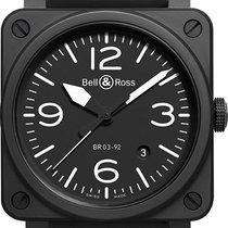 Bell & Ross BR 03 BR-03-92-BLACK-MATTE new