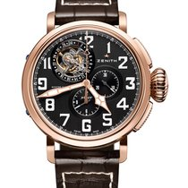 Zenith Pilot Type 20 Tourbillon Титан 48mm Черный Aрабские