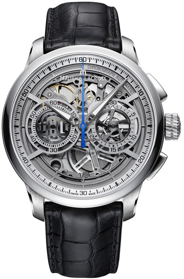 Image result for maurice lacroix masterpiece chronograph skeleton