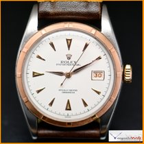 Rolex Oyster Datejust Ref 6075 Big Bubble Steel and Pink Gold