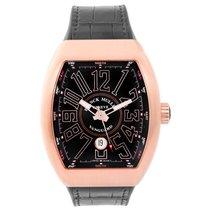 Franck Muller Vanguard 18K Rose Gold Men's Watch V45 SC DT 5N BRN