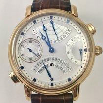 Maurice Lacroix MASTERPIECE DOUBLE RETROGRADE GMT GOLD 18K...