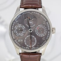 IWC Portuguese Perpetual Calendar Or blanc Gris Arabes France, Cannes