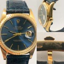 Rolex Datejust Oro amarillo 36mm Azul Sin cifras