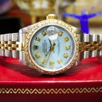 Rolex Lady-Datejust Goud/Staal 26mm Blauw