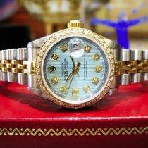 Rolex Lady-Datejust Zlato/Zeljezo 26mm Plav-modar