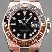 Rolex GMT-Master II Ροζέ χρυσό 40mm Μαύρο Xωρίς ψηφία