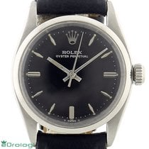Rolex Oyster Perpetual Steel 30mm Black No numerals