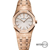 Audemars Piguet Royal Oak Lady Pозовое золото 33mm Cеребро Без цифр