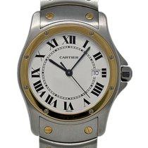 Cartier gebraucht Quarz 30mm Weiß Saphirglas 3 ATM