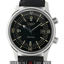 Longines Legend Diver Stainless Steel 42mm Black Dial
