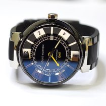 Louis Vuitton Tambour Moon GMT 41.5mm Stainless Steel Watch on...