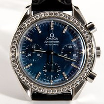 Omega Speedmaster Blue Mother of Pearl XL Set Diamonds