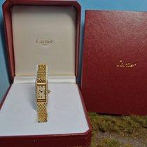 Cartier Tank Alongee von 2010 mit 3 Reihen Diamanten, B&P,...