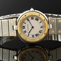 Cartier Santos (submodel) pre-owned White Gold/Steel
