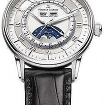 Maurice Lacroix Masterpiece Phases de Lune pre-owned 40mm Silver Crocodile skin