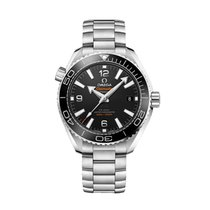 Omega Seamaster Planet Ocean Steel 39.5mm Black Arabic numerals