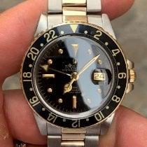 Rolex GMT-Master Zlato/Ocel Černá Bez čísel