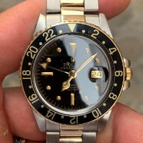Rolex GMT-Master Χρυσός / Ατσάλι Μαύρο Xωρίς ψηφία