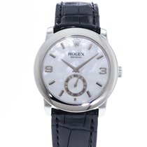 Rolex Platinum Manual winding Mother of pearl 35mm pre-owned Cellini