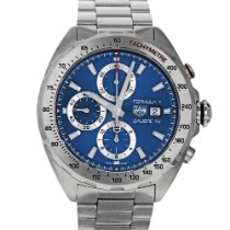 TAG Heuer Formula 1 Calibre 16 pre-owned 44mm Blue Chronograph Date Steel
