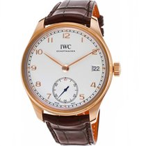 IWC Portuguese Hand-Wound Or rouge 43,2mm Argent Arabes