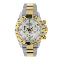 Rolex DAYTONA Steel & 18K Yellow Gold White MOP Diamond Dial