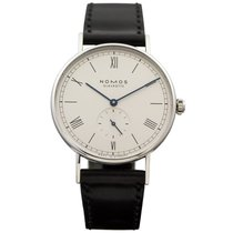 NOMOS Ludwig 38 Staal 38mm Zilver