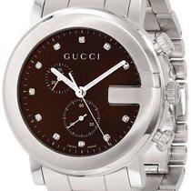 Gucci YA101350 G-Chrono Signature Diamonds Markers Unisex'...