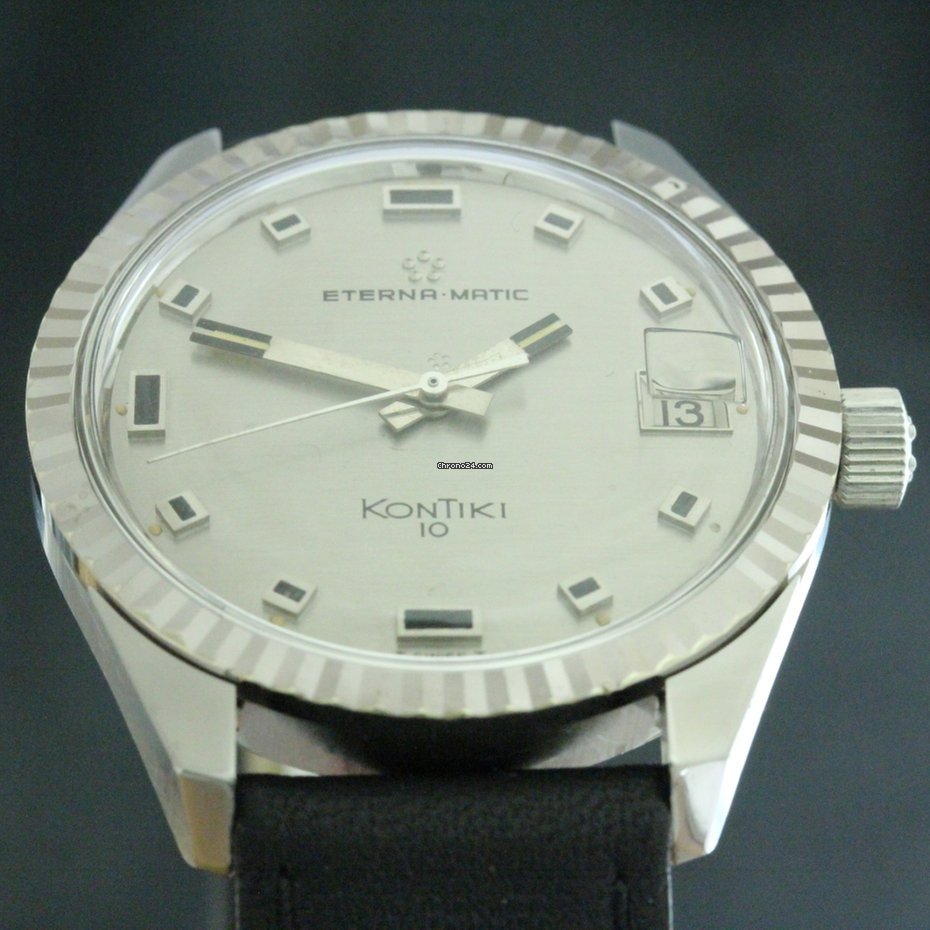 4f0a56280be Eterna-Matic KonTiki 10 Stahl Cal.1489K 1968 Rev.11 2018 for  633 for sale  from a Trusted Seller on Chrono24