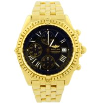Breitling Crosswind Racing pre-owned 43mm Black Chronograph Date Yellow gold
