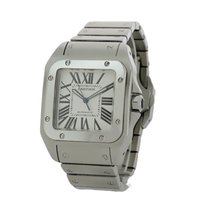 Cartier Santos 100 Acier 38mm Blanc Romain France, Bordeaux